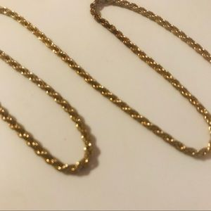 18K Gold Rope Chain 10g 20in
